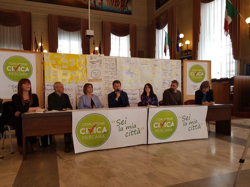 Presentazione della squadra di Civitarese per la Giunta della Città
